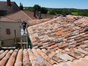 totally renovated roof on this house for sale in France Lot
