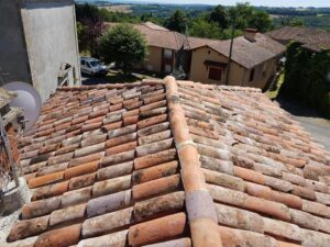 french house with renovated roof for sale in France